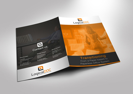 Transitioning from a Paper-based to Paperless Office System - brochure rendering