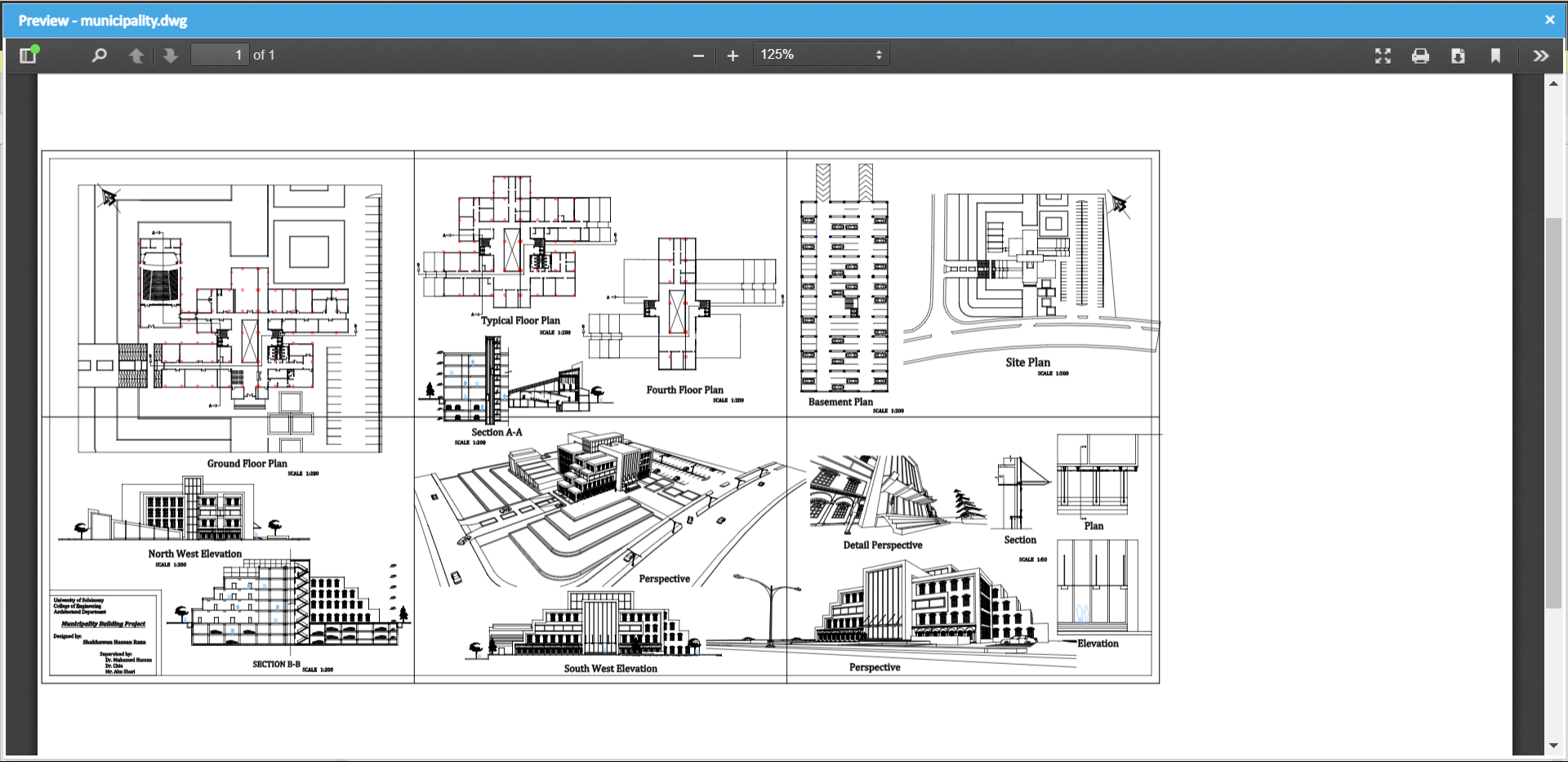 Preview DWG construction project